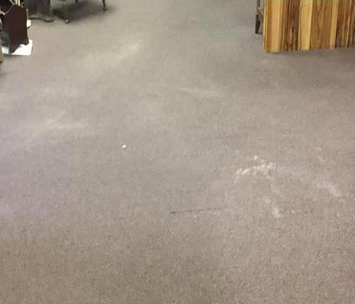 water removed from carpeting after a leak