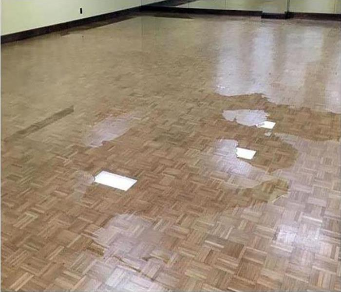wood flooring damaged after a water incident