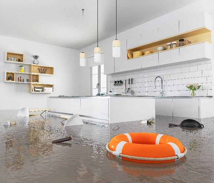 Flooding Kitchen Interior